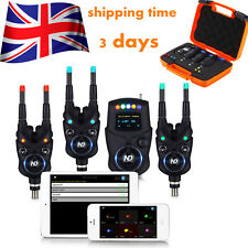 UK Warehouse New Direction Tackle Bluetooth Bite Alarm 3+1 Set For Carp Fishing