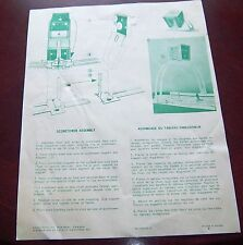 Coleco / Eagle Hockey game scoretower assembly instructions 1970's