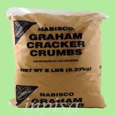 CRACKER CRUMBS 2 Bags x 5 lbs NABISCO GRAHAM CRACKER CRUMBS FOR BAKING PIE CRUST