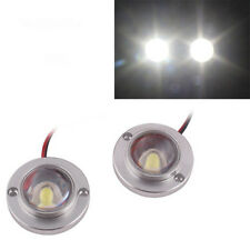 2x White Motorcycle High Power LED Strobe Flash Brake Tail Light For Victory