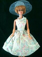 Vintage style ooak handmade barbie fashion doll dress hat shoes necklace lot