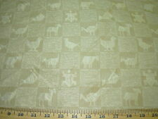 "~10 YDS~FABRICUT~100% SILK ""NOAH"" ANIMALS~DRAPERY UPHOLSTERY FABRIC FOR LESS~"