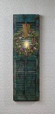 Shutter with Herb Wreath & Flickering Candle Lighted Picture 39823 Radiance NEW