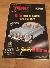 MAGAZINE....OCTOBER 1957 THE AUTOCAR LONDON MOTOR SHOW EDITION HILLMAN
