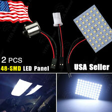 2X Cool White US RV 1141/1156/BA15S T10/921/194 48SMD Panel Interior LED Lights