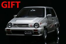 Car Model AUTOART 1:18 Honda CITY TURBO II (Silver) with MOTOCOMPO (Yellow)+GIFT