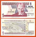P216 Türkei 1 Lira 2005 Serie A16 UNC
