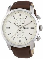 Fossil Men's FS4865 'Townsman' Chronograph Brown Leather Watch