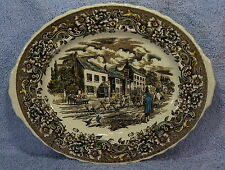 "Royal Tudor Ware 17 Century England Oval Serving Platter 12 1/4"" x 10 1/8"""