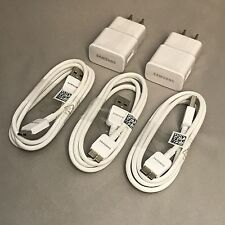 Brand New OEM Samsung Galaxy S5 Note 3 USB cable x 3 + Wall Charger x 2