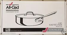 ALL CLAD 4402 STAINLESS STEEL 2 QUART SAUTE PAN WITH LID NEW BEST OFFER!