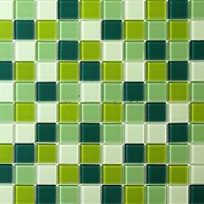 Green Mix Glass Mosaic Tile [pack of 5 sheets]