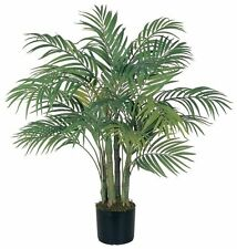 Nearly Natural 5000 Areca Decorative Silk Palm Tree- 3-Feet- Green NEW