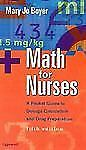 Math for Nurses: A Pocket Guide to Dosage Calculation and Drug Preparation NEW