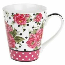 Pink Rose Floral Pattern Fine China Mug by Jessie Steele Gift for Mum Nan Sister