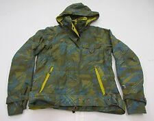 COLUMBIA J2226 Women's Size M OMNI-TECH Waterproof Full Zip Hooded Green Jacket