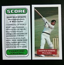Cricket-West Indies GARFIELD Sobers punteggio Campioni del Mondo Sport TRADE card