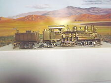 HON3 BRASS STEAM ENGINE NO.8 WEST SIDE LUMBER 3 TRUCK SHAY WITH EXTRA PARTS