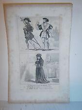 Gravure  France Costumes de garde du corps ,d'homme de loi et de  François 1er