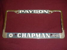 Payson AZ Chrysler Chevrolet License Plate Frame Metal Tag Embossed Dealership