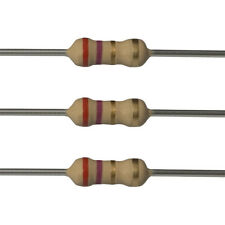 100 x 2.7 Ohm Carbon Film Resistors - 1/4 Watt - 5% - 2R7 - Fast USA Shipping