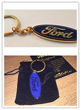 FORD 24ct GOLD PLATED KEYRING FIESTA FOCUS ST RS GALAXY S-MAX C-MAX KUGA MONDEO