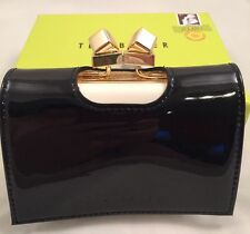 Ted Baker Metal Cube Patent Small Purse with box Black