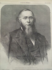 Edwin M Stanton Secretary of War Civil War 1866 Harper's Weekly