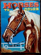 Vintage HORSES COLORING BOOK By Merrill Company ~ Beautiful Children's Graphics