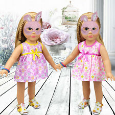 Cute Floral Dress Lovely Outfits Clothes For 18inch American Girl Doll Party Toy