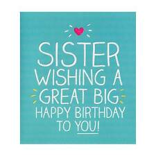 Happy Birthday Sister Card - Form Brother or Sister, For Her, Personalised