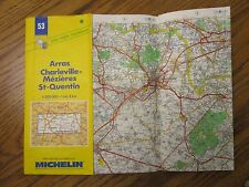 Michelin #53 - Map of Northern France - Arras-Charleville-Mezieres - 1995