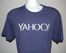 EUC MENS YAHOO T SHIRT XLARGE PURPLE WHITE LOGO