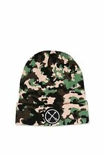 TOPSHOP Ladies Camoflage Camo Khaki Badge Winter Knitted Beanie Hat NEW FREE P&P