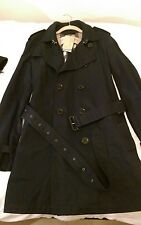Genuine Burberry Brit Long Men's Navy Trench Coat - UK Medium - New with tags