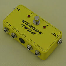 New 2 Looper For Effect Pedal -Guitar 2 Loop Pedal Board-True Bypass@Free ship