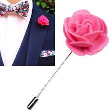 Feltro bavero Fiore Boutonniere Stick Spilla Camicie Uomo Cravatta Tuta Rosa