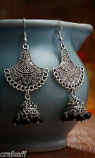 Saffron Craft Alloy Made Hanging Earring With Black Beads