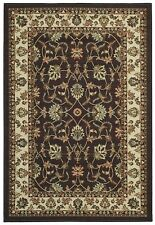 Maxy Home 5' x 7' Brown Traditional Floral Rubber Back (Non-Skid) Area Rug