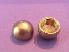 "LOT OF 2: NEW Unfinished Solid Brass 1/2"" Half Ball Cap Finial tap 1/8 IPS"