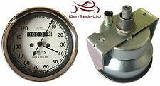 REPLICA SMITHS WHITE FACE SPEEDOMETER 10-120MPH - BSA / ENFIELD / NORTON