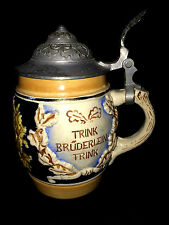 "5"" SMALL KIEL BEER STEIN JUG GERMAN TRINK BRUDERLEIN TRINK GERMANY ZU HAUS"