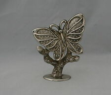 Silver Plated Butterfly Jewelry Holder Stand