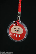 Phone strap - Daruma - Cordelette rouge - Made in Japan