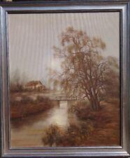 Landschaftsbild,Beck o.ä.,gut gerahmt, (E13-CH02)