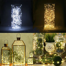 10 LED  Warm White String Fairy Lights Battery Operated Xmas Party Room Decor