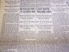 1930 JUNE 30 NEW YORK TIMES - 400 YEAR OLD STORY OF COLUMBIA HERE - NT 4976