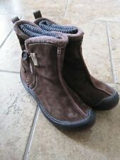 Privo 6M brown leather short boots button side