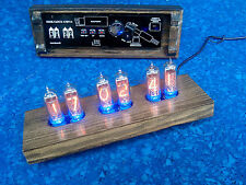 Nixie Clock 6x IN-14 Wooden Case Vintage 43IN14