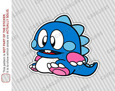 Bubble Bobble BOB Car Truck SUV Vinyl Bumper Sticker